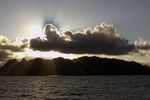 Kauaʻi sunrise from NOAA Ship Oscar Elton Sette during small-boat and dive gear preparations for coral reef monitoring in 2008.