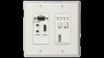 DL-1H1V1U-WP-W - Two Gang HDBaseT 2.0 HDMI / VGA and USB 2.0 transmitter wall plate