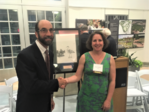 Dr. Joel Gerwein and Nicole LeBoeuf at the 30th Annual National Wetlands Awards ceremony in Washington, DC on May 7, 2019.
