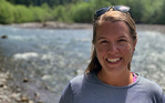 Laurel Jennings visits the White River near Mount Rainier in Washington.
