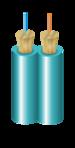 D50125MOM3P - Duplex OM3 Multimode Cleerline SSF Indoor/Outdoor Plenum Fiber Optic Cable