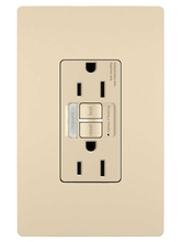 radiant® 15A Tamper-Resistant Self-Test GFCI Outlet with Night Light