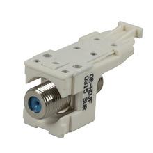 HDJ F Connector, F/F 75 Ohm, Fog White