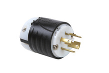20 Amp NEMA Plug L1520 - Black Back, White Front Body