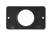1-Gang 1.56 Diameter Single Receptacle Cover Plate, Black