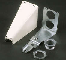 Wiremold 500/700 Series Adjustable Offset Connector Fitting, Ivory