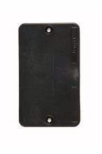 1-Gang Blank Cover Plate, Black