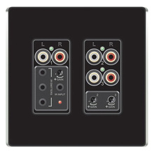 Discontinued | lyriQ Flush Mount Triple Source Input, Black