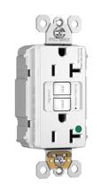 PlugTail® NAFTA-Compliant Hospital-Grade 20A Self-Test Duplex GFCI, White