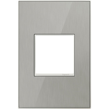 adorne® Brushed Stainless One-Gang Screwless Wall Plate