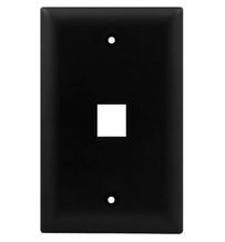 1-Gang, 1-Port Wall Plate, Black