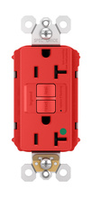 PlugTail® Hospital-Grade Tamper-Resistant 20A Self-Test GFCI Receptacle, Red