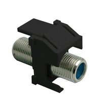 Recessed Nickel Self-Terminating F-Connector, Black