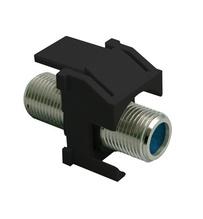 Recessed Nickel Self-Terminating F-Connector, Black