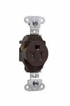 Tamper-Resistant Construction Spec Grade Single Receptacles, Back & Side Wire, 15A, 125V, Brown