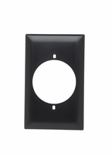 Power Outlet Receptacle Openings, One Gang, Brown