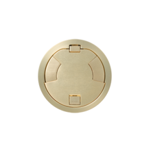 8IN FLUSH STYLE CVR ASSEMBLY SB SATIN BRASS