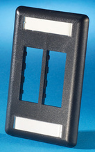 TRACJACK FACEPLATE, FOUR-PORT (SINGLE GANG), PLASTIC