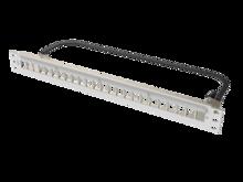 Clarity HDJ 24-Port, 1RU Shielded High Density Jack, Unloaded Flat Panel White