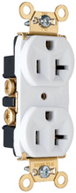 Heavy-Duty Spec Grade Receptacles, Back & Side Wire, 20A, 125V, White