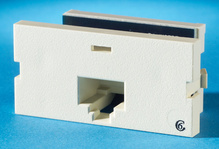 Series II, one-port Clarity 6, T568A/B, 180 degree, Wiremold Ivory