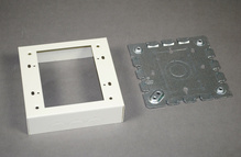 Wiremold 500/700 Series Two-Gang Shallow Switch and Receptacle Box Fitting, Ivory