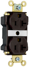 Industrial Extra Heavy-Duty Spec Grade Receptacles, Back & Side Wire, 20A, 125V, Brown