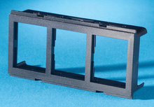 TRACJACK ADAPTER PLATE FOR FURNITURE OPENING, THREE-PORT, BLACK