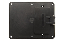2-Gang Flip Lid 1-GFCI And 1-Blank Cover Plate, Black