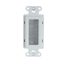 CABLE ACCESS WALL PLATE WHITE