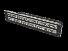 Clarity 48-Port, 2RU Shielded High Density Jack, Unloaded Angled Panel - Black