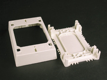 Wiremold 400/800/2300/2300D Series Shallow Device/Extension Box Fitting, White