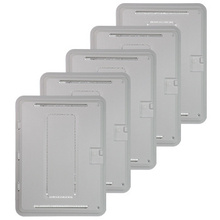 PLASTIC 20 IN TRIM & HINGED COVER (5PK)