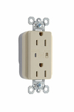 PlugTail® Extra Heavy-Duty Surge Protective Duplex Receptacle, Ivory