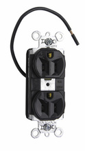 PlugTail® Split Circuit Spec Grade Receptacles, 15A, 125V, Brown