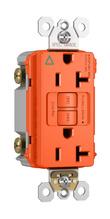 Spec-Grade Isolated Ground Tamper-Resistant 20A Self-Test Duplex GFCI, Orange