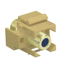 Recessed Self-Terminating F-Connector, Ivory