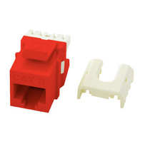 Cat 6 Quick Connect RJ45 Keystone Insert, Red