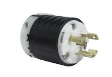 30 Amp NEMA L1130 Plug - Black Back, White Front Body