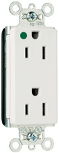 PlugTail® Decorator Hospital Grade Receptacles, 15A, 125V, White
