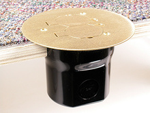 862C Series PVC Floor Box Assembly for Wood or Concrete Floors
