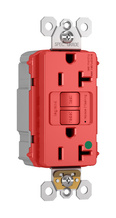 PlugTail® Hospital-Grade 20A Self-Test GFCI Receptacle, Red