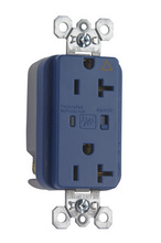 Isolated Ground Surge Protective Duplex Receptacle, Blue