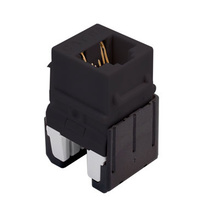 Cat 6a Quick Connect RJ45 Keystone Insert, Black