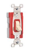 PlugTail® Specification Grade Three-Way Illuminated 20 amp Toggle Switch, Ivory