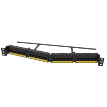 TECHCHOICE CAT6A PATCH PANEL, ANGLED 24 PORT