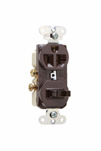 20A, 120/125V Combination Single-Pole Switch & Single Receptacle, Brown