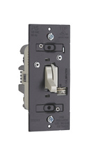 Discontinued   Trademaster CFL/LED/Incandescent Single Pole/3-Way Toggle Dimmer, Light Almond   Sub TSDCL303PLA