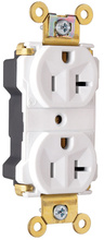 PlugTail® Industrial Extra Heavy-Duty Spec Grade Receptacles, 20A, 125V, White