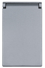 One Gang Heavy Cast Aluminum Cover Decorator/GFCI Vertical, Gray